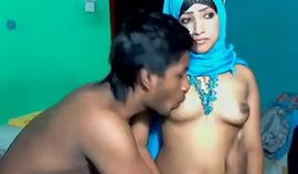 Horny Amateur Arab Couple Fucking on Webcam