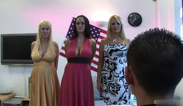 Wild Threesome Action With Two Horny And Buxom Milfs Carmella Bing 1
